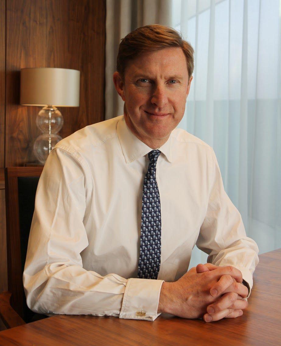 Alderman robert hughes penney in his office